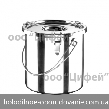 Ведро с крышкой из нержавеющей стали для еды на 10 л (НЕ ТЕРМО)