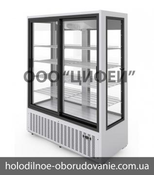Среднетемпературный холодильный шкаф Эльтон 1,5С двери купе МариХолодМаш