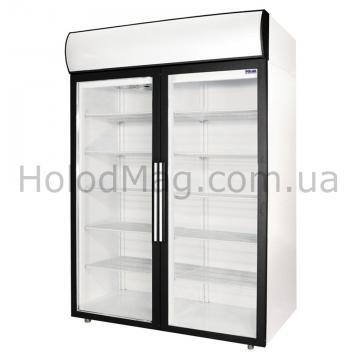 Холодильный шкаф Polair DM110-S, DM114-S со стеклянными дверьми для напитков