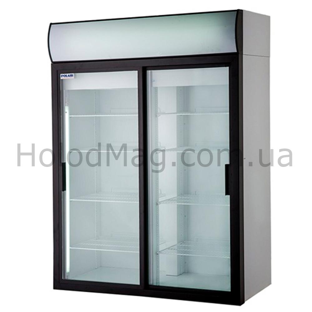 Холодильный шкаф со стеклянной дверью купе Polair на 1000 и 1400 л