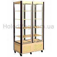 Двухдверный стеклянный шкаф-витрина Carboma R800C для кондитерских изделий