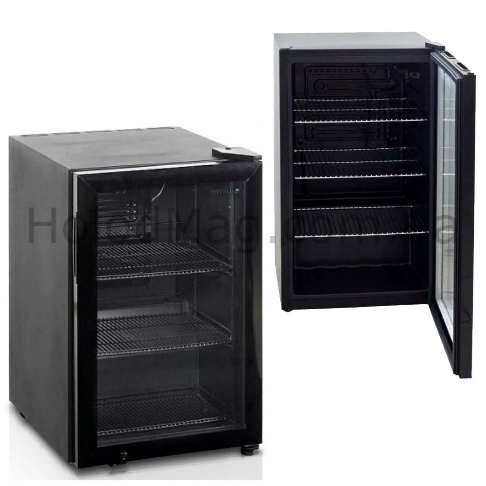 Барный холодильник на 58 л TEFCOLD BC60-I черного цвета
