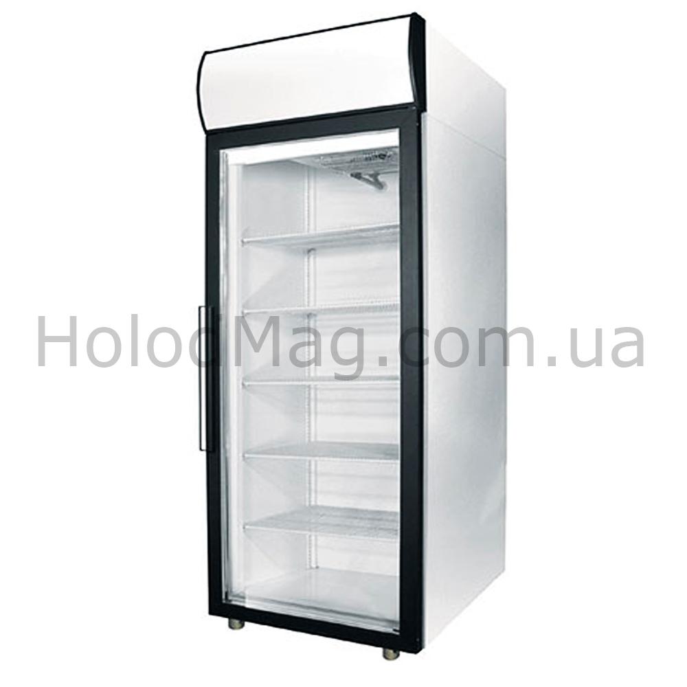 Холодильный шкаф с одной стеклянной дверью Polair DM105-S, DM107-S для напитков