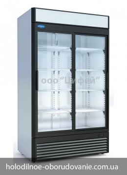 Шкаф среднетемпературный Капри со стеклянными дверьми купе