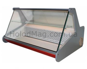 Настольная универсальная витрина с полкой и прямым стеклом Uni-Cold