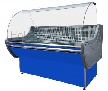Холодильная витрина среднетемпературная Lux с гнутым стеклом