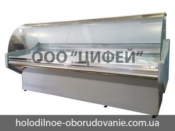 Витрина универсальная Престиж-Lux с гнутым стеклом