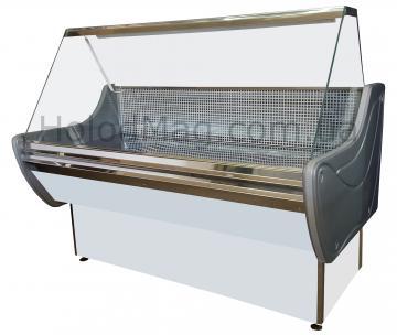 Универсальная холодильная витрина Lux с прямым стеклом