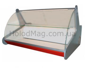 Настольная витрина Холодильник Эко с гнутым стеклом и полкой
