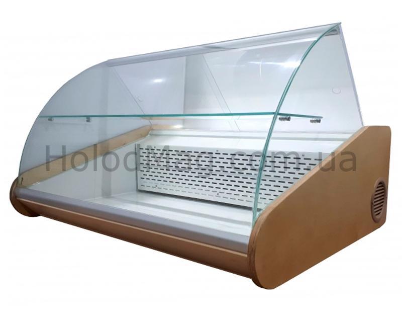 Настольная гастрономическая витрина с полкой