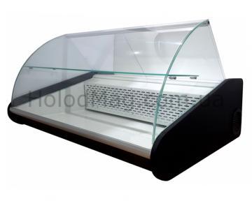 Настольная универсальная витрина Uni-Lux с гнутым стеклом