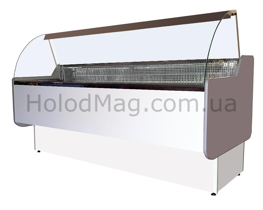 Холодильная витрина среднетемпературная Maxi-Box с гнутым стеклом