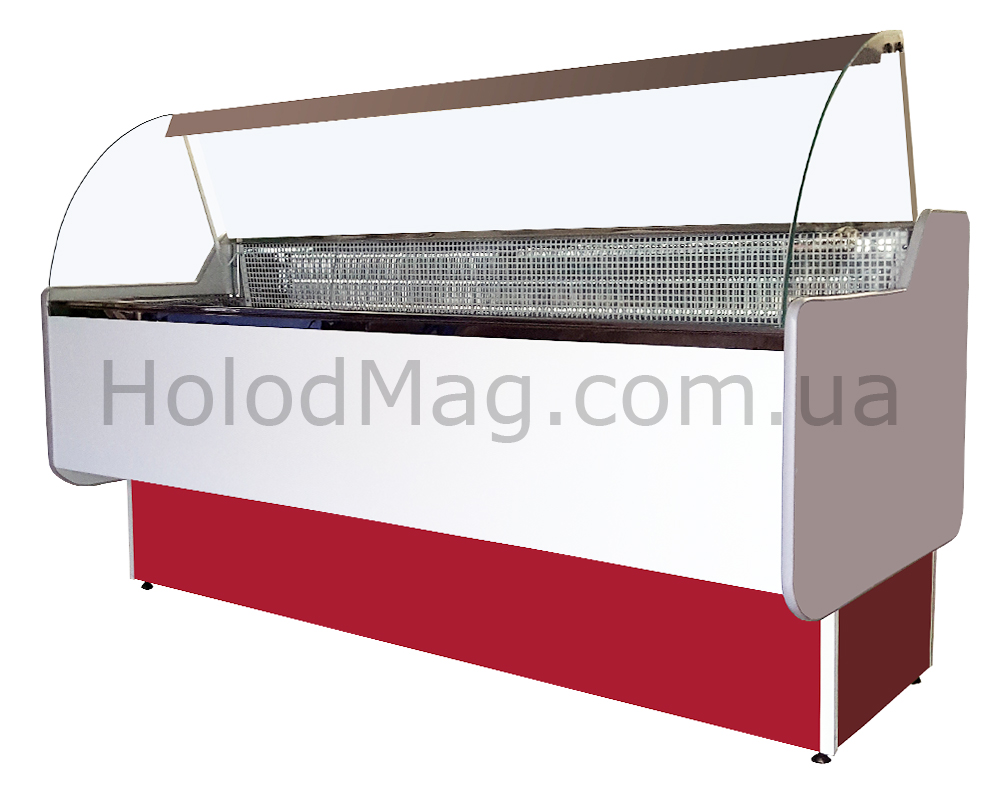 Холодильная витрина Универсальная Макси ВХУг с гнутым стеклом