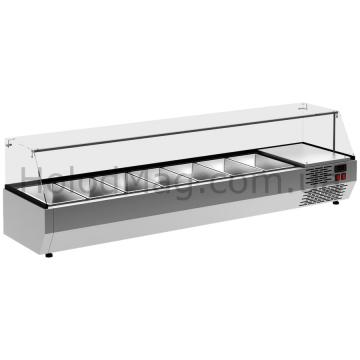 Холодильная витрина Carboma Fast Food A40 для ингредиентов закрытая