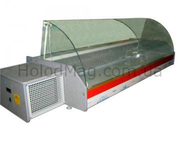Настольная холодильная витрина Orta-Lux гнутым стеклом