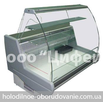 Кондитерская охлаждаемая витрина - Сиена с гнутым стеклом