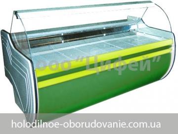 Торговые холодильные витрины с гнутым стеклом Орбита