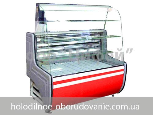 Кондитерская витрина охлаждаемая - Орбита с гнутым стеклом