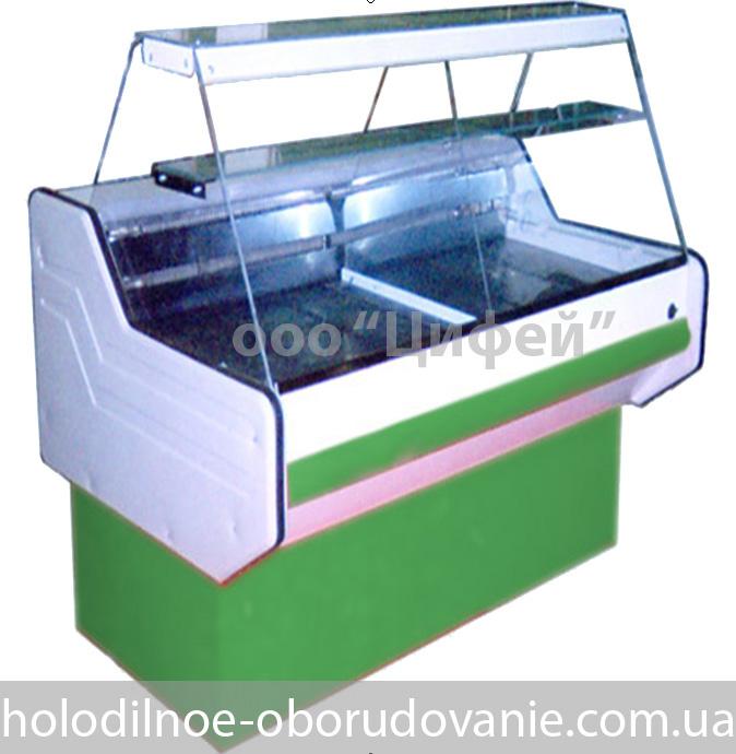 Универсальная витрина Классика с прямым стеклом