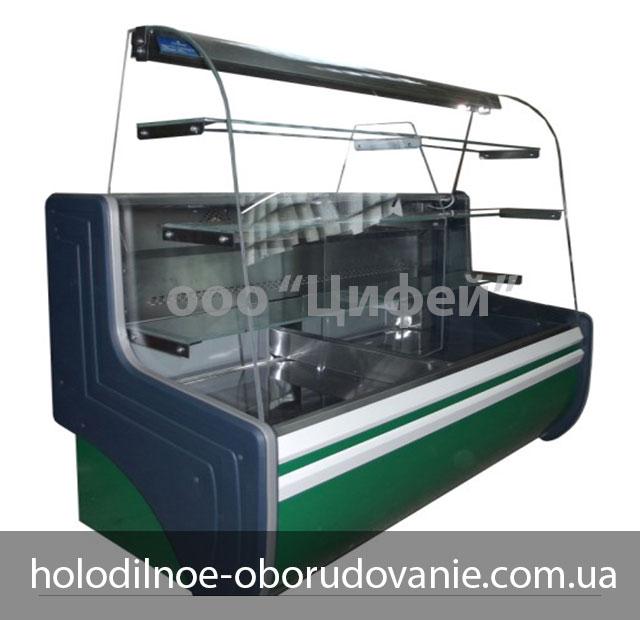 Витрина кондитерская Орбита с динамическим охлаждением с гнутым стеклом