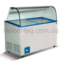 Ларь морозильный для мороженого мягкого Crystal VENUS VITRINE CURVED
