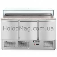 Стол холодильный для пиццы трёхдверный Hendi 232873