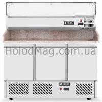 Стол холодильный для пиццы с охлаждаемой надставкой Hendi 232033