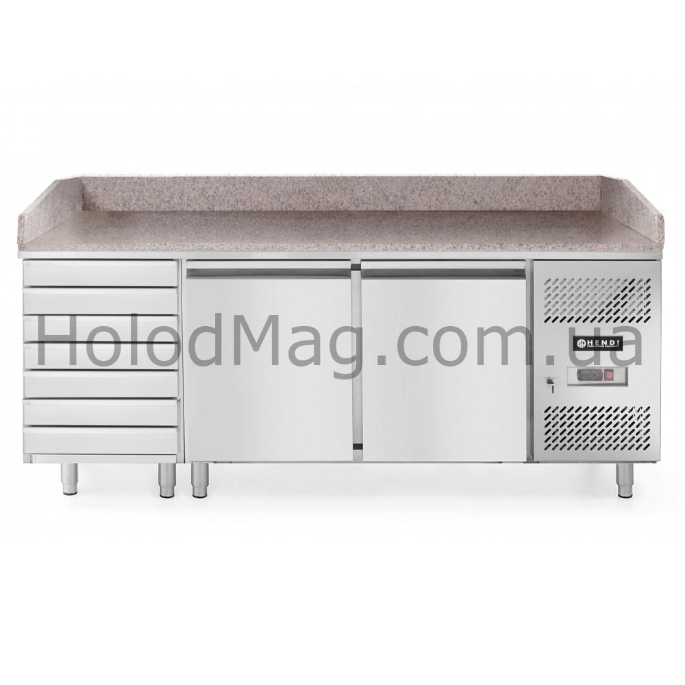Стол холодильный для пиццы двухдверный Hendi 232842