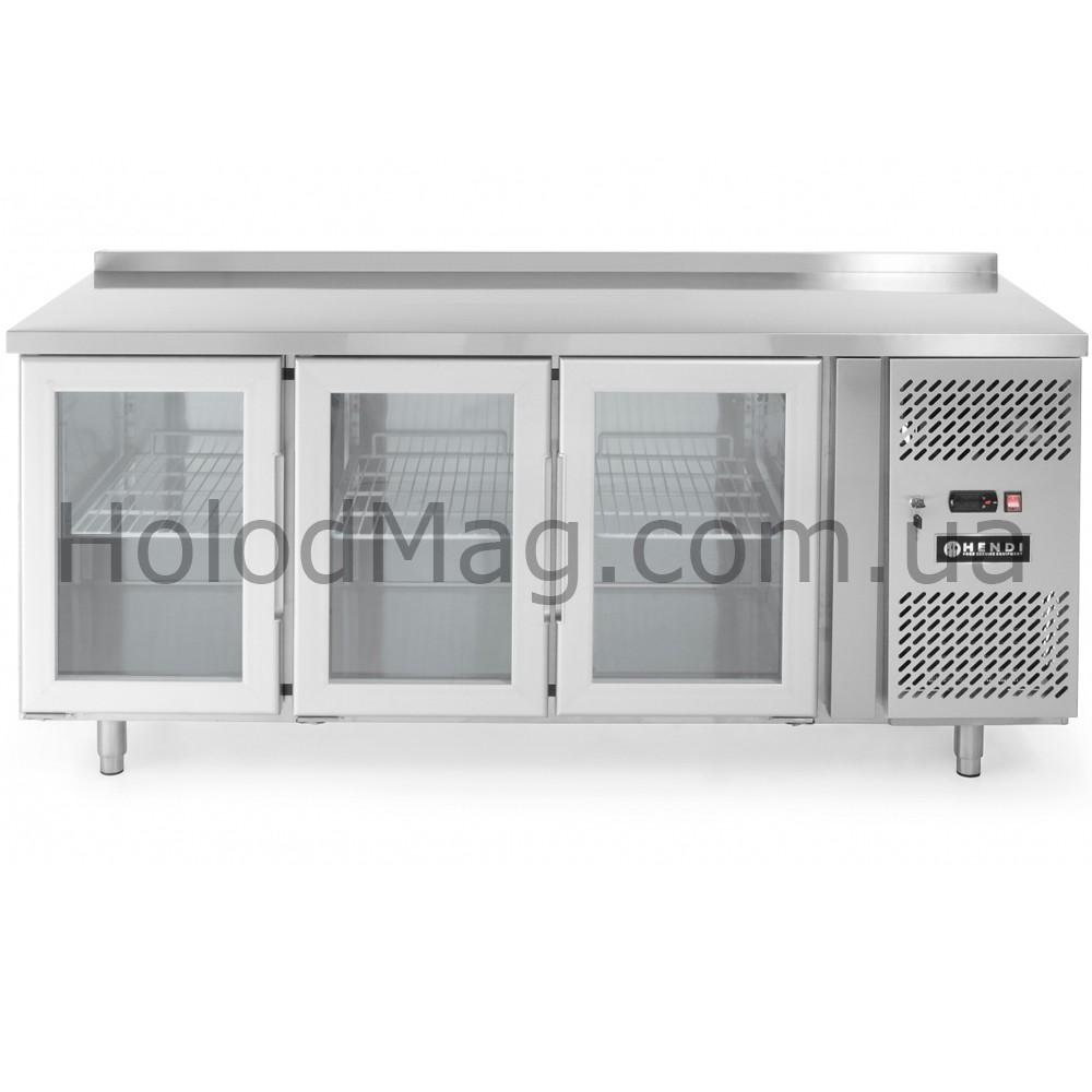 Стол холодильный 3-дверный застекленный Hendi 233436