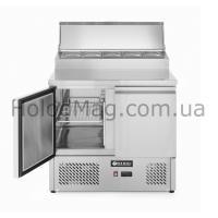 Стол холодильный 2-дверный саладетта с надстройкой Hendi 232880