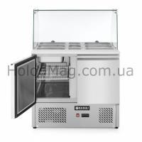 Стол холодильный 2-дверный саладетта со стеклянной витриной Hendi 232781